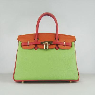HBK30ROG001 Birkin 30CM Red.Orange.Green (gold)