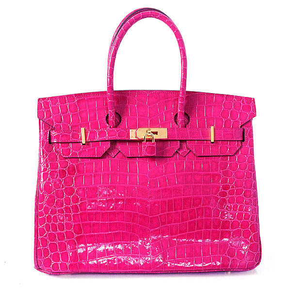 H35 Hermes Birkin 35CM Crocodile leather in Light Peach with Gold hardware