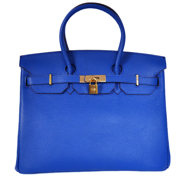 H35CVG Hermes Birkin 35CM clemence leather in Violet with Gold hardware