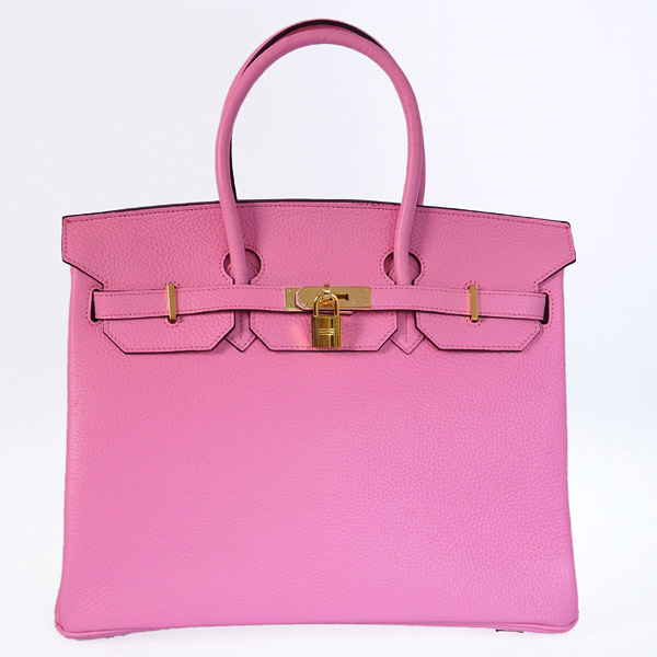 H35CCPG Hermes Birkin 35CM clemence leather in Cherry Pink with Gold hardware