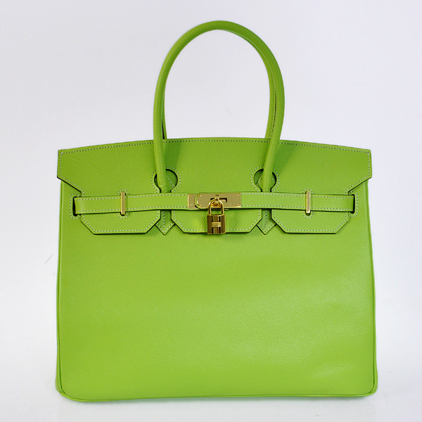 H35PSGG Hermes Birkin 35CM Palm stripes leather in Green with Gold hardware