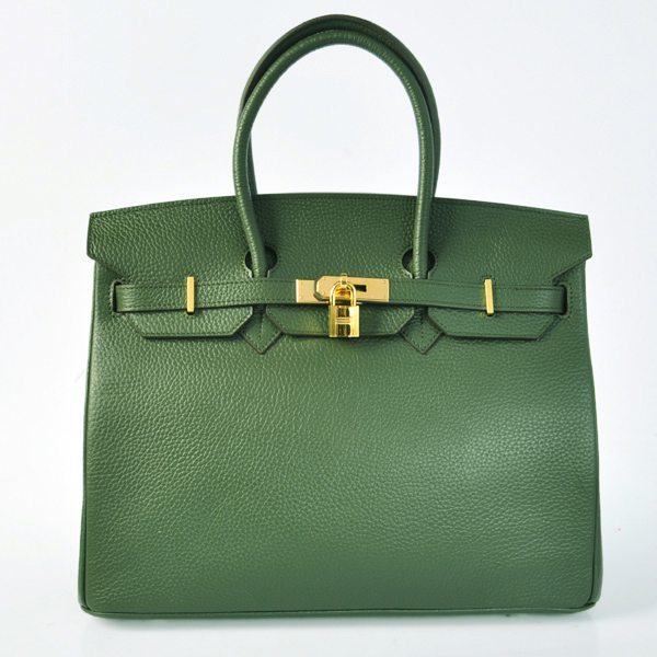 H35LAGG Hermes Birkin 35CM clemence leather in Army Green with Gold hardware