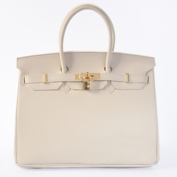 H35LSBG Hermes Birkin 35CM clemence leather in Beige with Gold hardware
