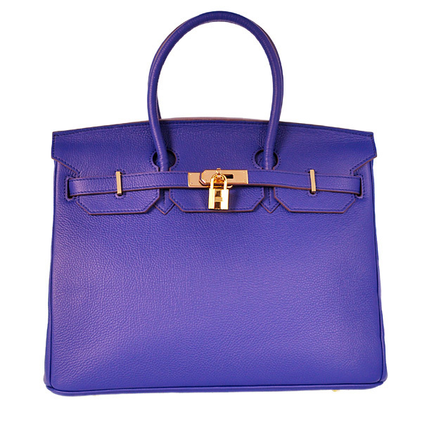 H35BJSG Hermes Birkin 35CM togo leather in Sapphire with Gold hardware
