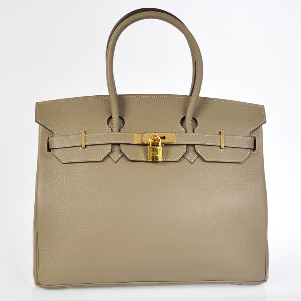 H35LDGG Hermes Birkin 35CM clemence leather in Dark Grey with Gold hardware