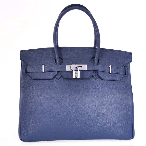 H35BJDBS Hermes Birkin 35CM togo leather in Dark Blue with Silver hardware