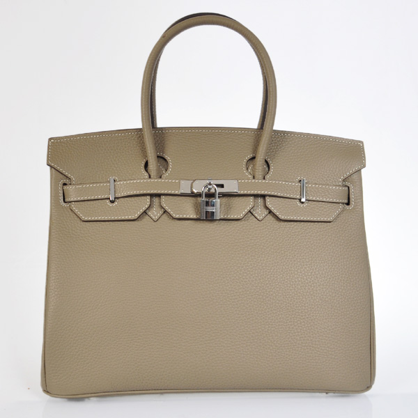 H35LDGS Hermes Birkin 35CM clemence leather in Dark Grey with Silver hardware