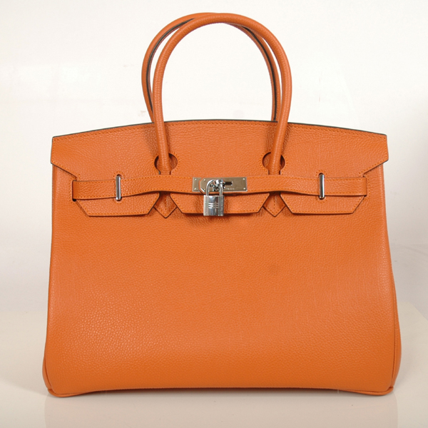 H35OBJSS Hermes Birkin togo leather 35CM Orange togo(Silver)