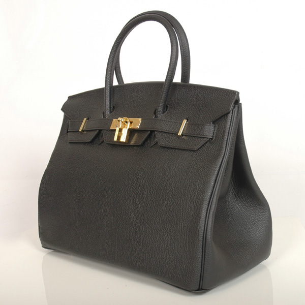 H35BBJSG Hermes Birkin togo leather 35CM Black togo(Gold)