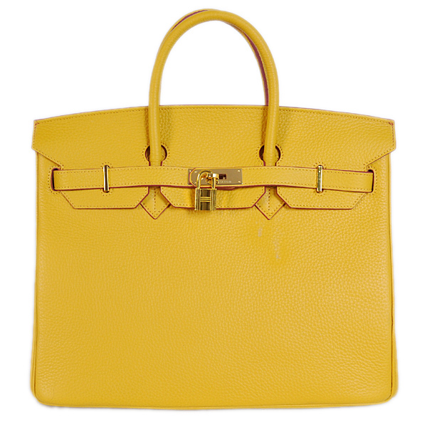 H35YLSG Hermes Birkin 35CM Yellow clemence leather(Gold)