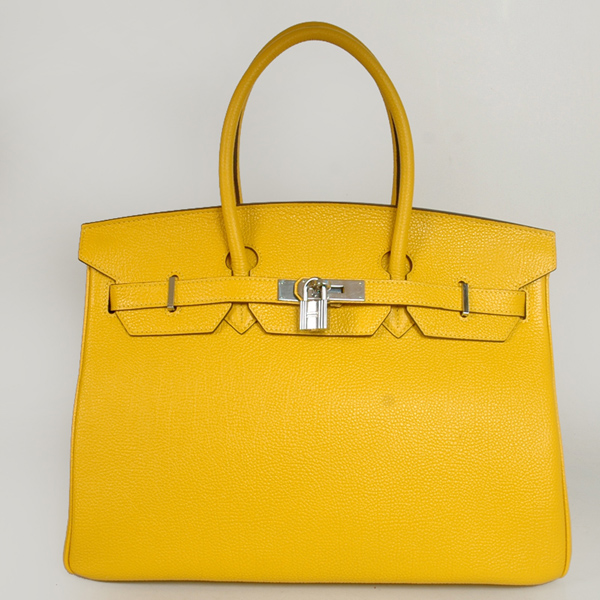 H35CYBJS Hermes Birkin togo leather 35CM Cadmium Yellow togo(Silver)