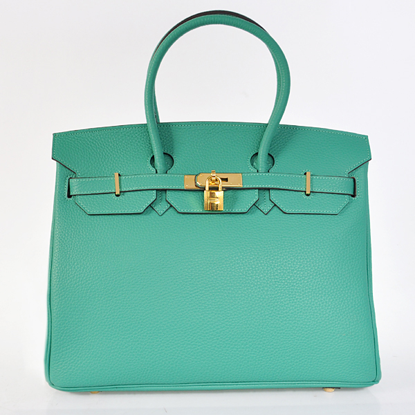 H35LGLSG Hermes Birkin 35CM Lake Green clemence leather(Gold)