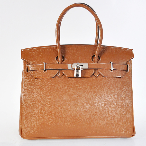 H35DWLSS Hermes Birkin 35CM Dark Wheat clemence leather(Silver)