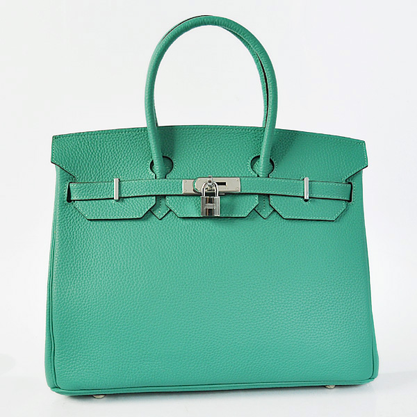 H35LGLS Hermes Birkin 35CM Lake Green clemence leather(Silver)