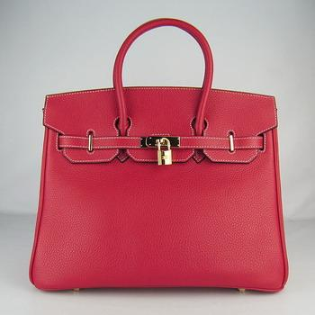 HBK35ORG020 Hermes 35CM Red (gold)