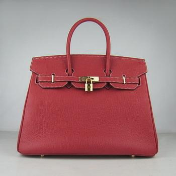 HBK35RCSG19 Hermes 35CM Red Cowhells Stripe (gold)