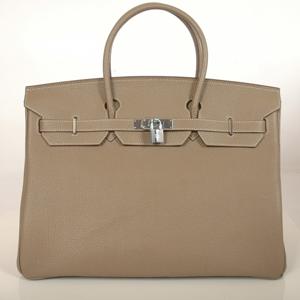 H40BJDGS Hermes Birkin togo leather 40CM togo in Dark Grey with Silver hardware