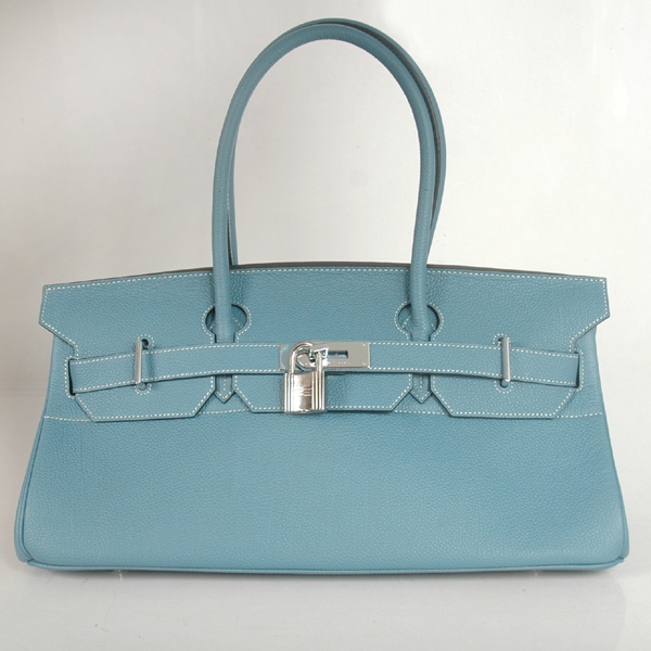 H42BJMBS Hermes Birkin togo leather 42CM togo in Medium Blue with Silver hardware