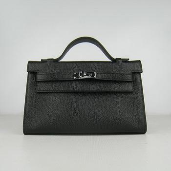 HKL22CNSB017 Hermes Kelly 22CM Cattle Neck Stripe Black