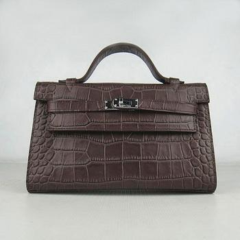 HKL2200CC011 Hermes Kelly 22CM Coffee Crocodile