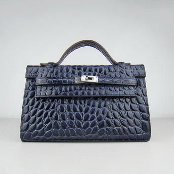 HKL22DBSS002 Hermes Kelly 22CM Dark Blue Stone Stripe