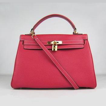 HKL32O0RG015 Hermes Kelly Handbags 32CM Red(gold)