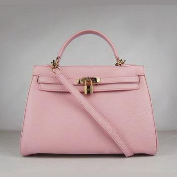 HKL32O0PG011 Hermes Kelly Handbags 32CM Pink(gold)