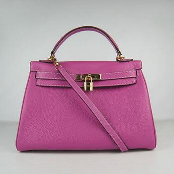 HKL32O0PG011 Hermes Kelly Handbags 32CM light Purple(gold)