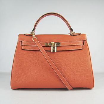 HKL32O0OG010 Hermes Kelly Handbags 32CM Orange(gold)