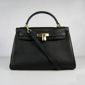 HKL32OOBG002 Hermes Kelly 32CM Black(gold)