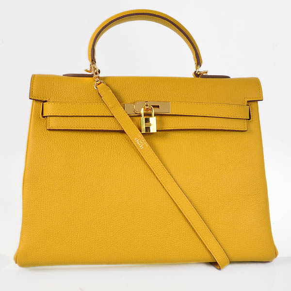 HKL35Y Hermes kelly 35CM Yellow togo leather(Gold)