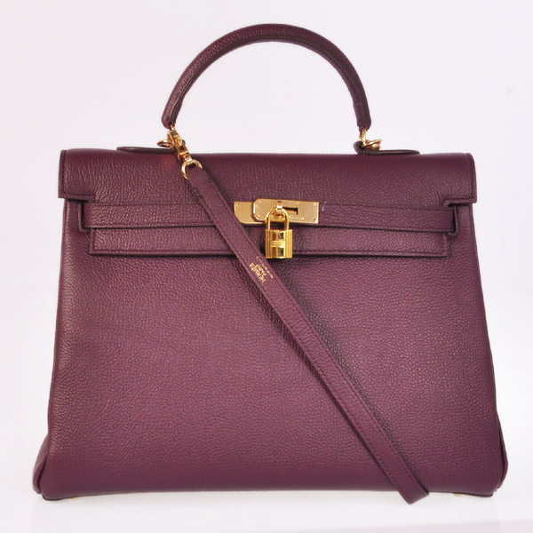 HKL35P Hermes kelly 35CM Purpel togo leather(Gold)