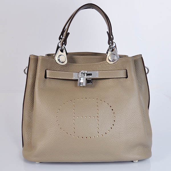 8388DGS Hermes Mini so kelly bag in Dark Grey with Silver hardware