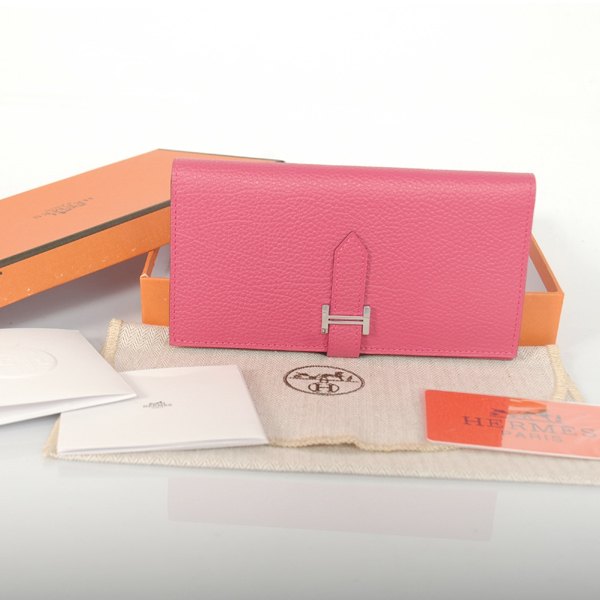 H2WBLLP Hermes 2 fold wallet leather in Peach
