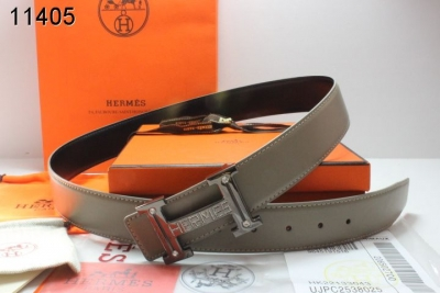 Special Hermes with Silver H Buckle Mens Grey Belt On sale