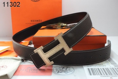 Special Belt with Golden H Buckle Mens Hermes Chocolate Wholesal
