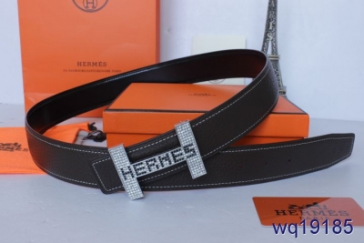 Belt Black with Silver H Buckle Hermes Mens Cheap Sale