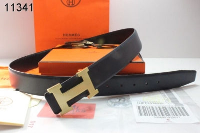 Belt with Golden H Buckle Black Mens Hermes Clearance Sale