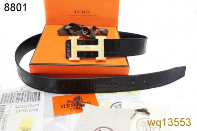 Famous Black Belt Hermes with Golden H Buckle Mens