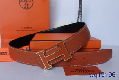 Purchase Belt Orange Hermes with Golden/Orange H Buckle Mens