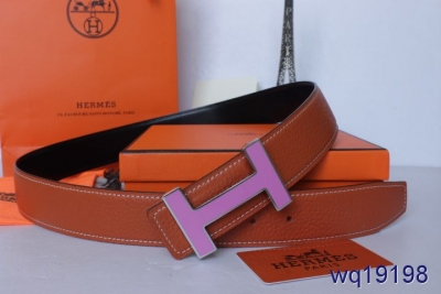 Stylish with Purple H Buckle Orange Mens Hermes Belt Inexpensive