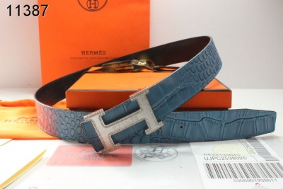 Discover Mens Blue with Silver H Buckle Hermes Belt Promote