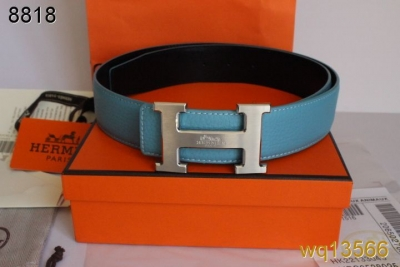 Discover Blue Hermes Belt with Silver H Buckle Mens Outlet