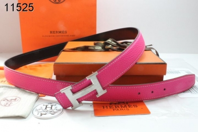 Hermes Belt Rose with Silver H Buckle Womens Promote