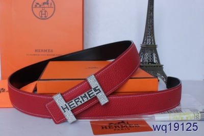 with Silver H Buckle Rose Mens Belt Hermes For sale