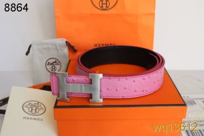 Pink Hermes Belt with Silver H Buckle Mens Store