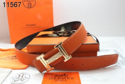 Hermes with Golden H Buckle Orange Womens Belt Clearance Sale