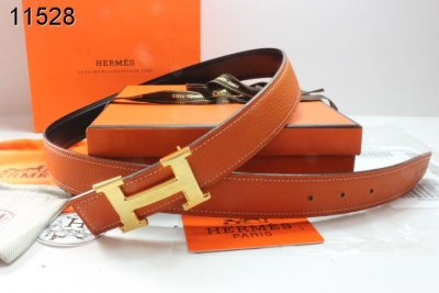 Hermes with Golden H Buckle Womens Belt Orange Sale
