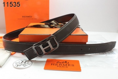 Quality Belt Black Womens Hermes with Black/Silver H Buckle