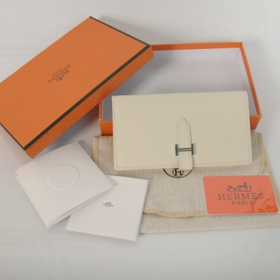 H2WLSLB Hermes 2 fold wallet clemence leather in Beige